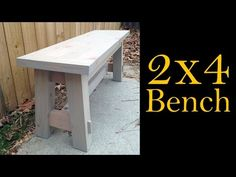 Build this budget-friendly outdoor bench using 2x4s. Fun & easy weekend woodworking project! - YouTube