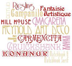 Art deco fonts...I like Riesling.