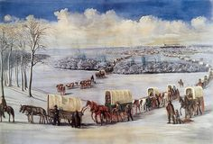 Learn about the Oregon Trail from the Old West. A roadway used by pioneers in covered wagons to travel west. Pioneer Trek, Pioneer Day, Pioneer Life, Mormon History, Mormon Pioneers, Joseph Smith, Victorian History, Church Pictures, Church History