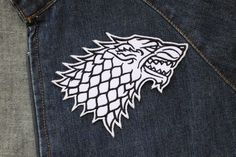 House Stark Direwolf Symbol Game of Thrones Embroidered Iron on / Sew on Patch | eBay