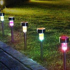 multicolor led garden lights