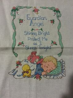 A personal favorite from my Etsy shop https://www.etsy.com/listing/212648965/cross-stitch-guardian-angel