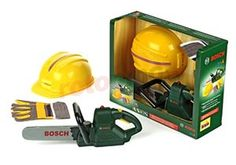 Set bûcheron Bosch http://www.rotopino.fr/kit-de-scie-casque-gants-jeu-bosch,44661 #jouet #bucheron #enfant #rotopino