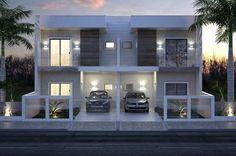 Plano de casa adosado moderna