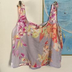 Floral Crop Top Flowy open back floral crop top by Love Squared. FREE WITH PURCHASE OF $10 OR MORE! Love Squared  Tops Crop Tops