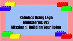 This is a Lesson Plan that consists of a PowerPoint Presentation to help brand new and beginning teachers with teaching Lego MINDSTORMS using the EV3 Robotics kit. This first lesson will guide teachers through the build with several extra building tips.