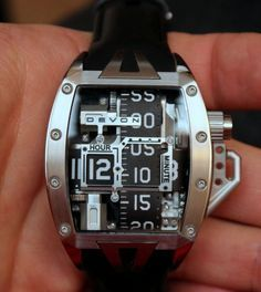 """Devon Works Tread 2 Shining Watch Review - by Patrick Kansa - today on aBlogtoWatch.com """"Coming as I do from an engineering (by training) and manufacturing background, seeing how watches come together is inherently of interest. Getting to see the movement at work is a visual treat, especially as the gears engage and mechanical work is done. Going in a totally different direction is the Devon Works Tread 2 Shining - but it is no less an impressive feat of engineering…"""""""