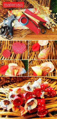 Como fazer florezinhas de tecido