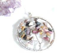 Tourmaline Tree Of Life Necklace Chakra Necklace by AlwaysCrafty77, $25.00