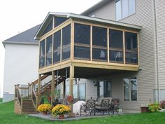 The porch is located in outdoor area; therefore the presence of porch certainly can make the porch become much comfortable.