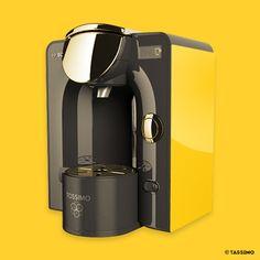 LA MACHINE À CAFÉ  Tassimo T55 Bosch -  Un réveil rayonnant d'énergie et d'onctuosité !  #jaunebycartenoire