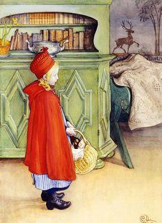 Carl Larsson (1853-1919) «Red riding hood»