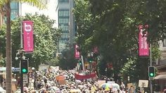 The crowd at the People's Climate March in Brisbane.
