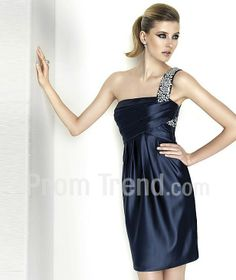 One-shoulder Short Chiffon Prom Dress - Promtrend.com