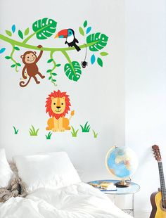 Jungle Friends Wall Stickers from notonthehighstreet.com