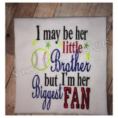 Brother softball shirt by SassyFrassDesigns01 on Etsy, $20.00
