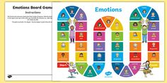 * NEW * Emotions Board Game