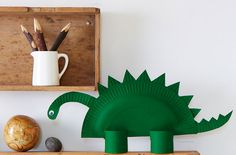How to make a paper dinosaur by goodtoknow #Kids #Crafts #Dinosaur