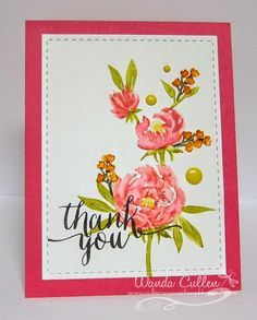 wplus9 pretty little peonies stamps - Google Search