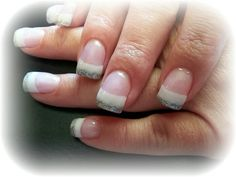 Silver French..nails by julie Redmond