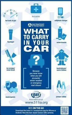 Will you be ready if you get stuck somewhere in your car?  Winter #preparedness