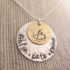 Personalized Jewelry -Family Necklace - Mothers Necklace - hand stamped jewelry by JLynnCreations on Etsy https://www.etsy.com/listing/128772527/personalized-jewelry-family-necklace