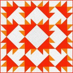 18″ Block: Leaf & the Leaf Pile Quilt