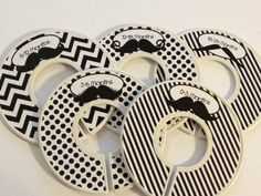 Adorable baby clothes closet dividers!