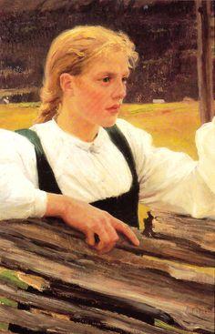 Kuva albumissa ALBERT EDELFELT - Google Kuvat. RETRETTI  Solveig 1893, Porvoon museo.  Photo: Gouglas Siven, iso kortti.