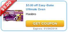 $5 Off Hasbro Easy Bake Oven