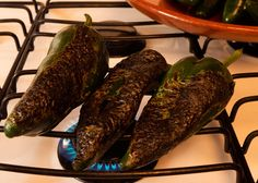 How to Roast and Clean Poblano Chiles via @MexFoodJournal