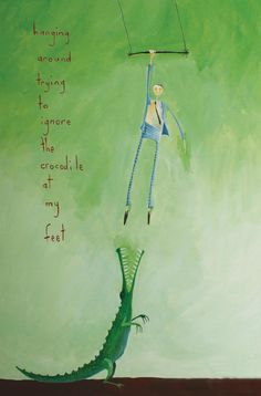 hanging around trying to ignore the crocodile at my feet | barkingmad