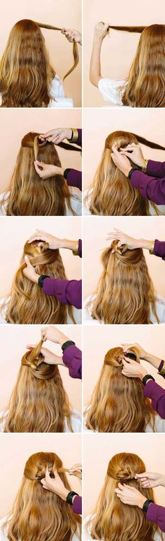 Amazing Half Up-Half Down Hairstyles For Long Hair - The Celtic Knot - Easy Step By Step Tutorials And Tips For Hair Styles And Hair Ideas For Prom, For The Bridesmaid, For Homecoming, Wedding, And Bride. Try An Updo Or A Half Up Half Down Hairstyle For Long Hair Or A Casual Half Ponytail For Blonde Or Brunette Hair. Easy Tutorial For Straight Hair Including A Top Knot, Loose Curls, And The Simple Half Bun. Styles And Hairdos For Veils, For Summer, For Fall, And For Winter. Try Bangs And…