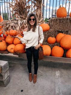 Nov 2019 - Talking about how to wear ankle boots and giving you oodles of outfit inspiration from wearing ankle booties with leggings to cuffed jeans and more! Trendy Outfits, Winter Outfits, Summer Outfits, Brighton The Day, Brighton Keller, Cropped Skinny Jeans, Cuffed Jeans, How To Wear Ankle Boots, Booties Outfit