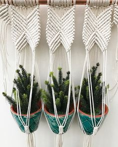 A lovingly handmade small plant hanger for your beloved plants or mini Christmas trees! Dip dyed dark green and made from cotton rope. The copper pipe measures approx 40cm wide, macrame approx 59cm long. Pots not included. Other designs and options are available, please see other listings or contact me with a custom request. Thank you.
