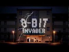 '8-bit invader' is a work of projection mapping created by Czech designer Pavel Novák