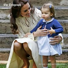 Duchess of Cambridge with Princess Charlotte at a friend's birthday party.. 2016.  Love this pic!