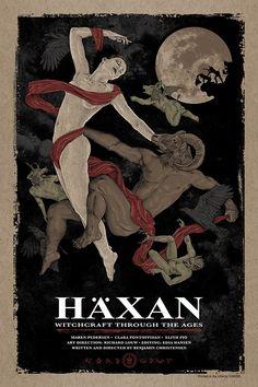 "keyframedaily: "" Benjamin Christensen's Häxan (1922). Poster by Timothy Pittides. """