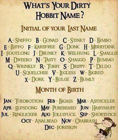 Filthy nicknames