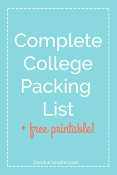 Here is my advice about what you should put on your college packing list and a free printable checklist!