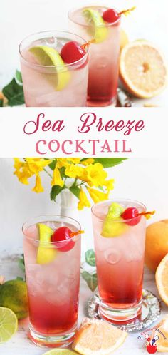A lighter version of a Sea Breeze Cocktail that's…