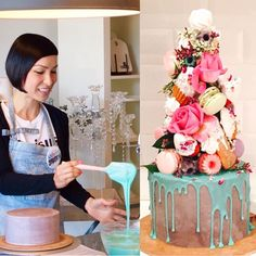 """Katherine Sabbath on Instagram: """"Due to popular demand (THANK YOU! ) @sweetbloomcakes & I are opening another of our 'Dessert Tower Cake' classes! The date is Sunday 16th August & enquiries or bookings can be made by emailing: ✨info@sweetbloomcakes.com.au✨  Photos by one of our awesome class participants, @amyrathborne """""""