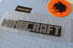 "Perler bead Minecraft logo For more Minecraft perler bead pattern go to mei pinning board""Minecraft"" :)"