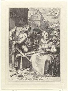 De middag, Jan Saenredam, Cornelius Schonaeus, 1675 - 1607
