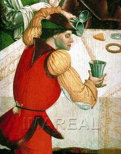 Almosenspende des Hl. Oswald Kunstwerk: Temperamalerei-Holz ; Einrichtung sakral ; Flügelaltar ; Meister der Oswaldlegende ; Steiermark  Dokumentation: 1470 ; 1475 ; Wien ; Österreich ; Wien ; Österreichische Galerie ; IN 4947  Anmerkungen: 96x86 ; Eisenerz