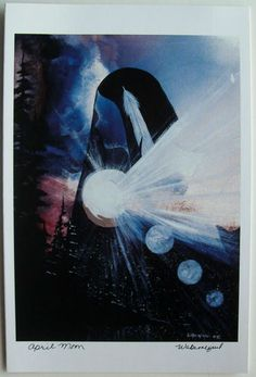 $6.99  Native Fine ART Card Blank April Moon BY Wabimeguil Betty Albert Lincez | eBay  #holiday #stationary #greetingcard