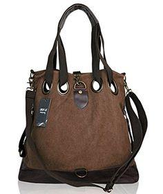 Womens Canvas Large Handbag Hobo Shoulder Bag
