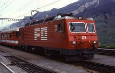 HGe4/4 102 (Foto: Helfried Werner) Locomotive, Train, Vehicles, Photos, Photo Illustration, Zug, Rolling Stock, Locs, Strollers