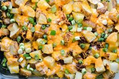 The word casserole used to totally freak me out.  Just the sound of it reminds me of something my grandma would bring to an Easter brunch. Now, I'm totally obsessed. This loaded baked potato casserole