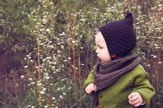 The Enchanted Forest Collection Hand knitted baby and toddler accessories by Gynka Knitwear Baby Hat Knitting Pattern, Bonnet Pattern, Baby Hat Patterns, Baby Hats Knitting, Knitted Hats, Knitting Patterns, Crochet Hats, Pixie, I Cord